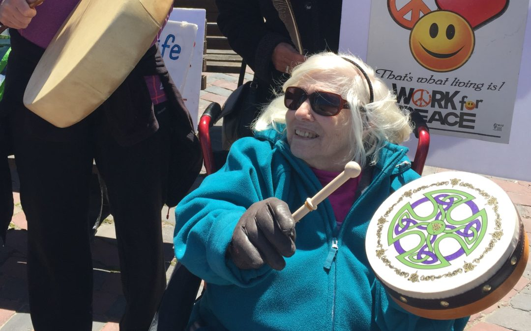 Memorial peace vigil for Niki Rosen