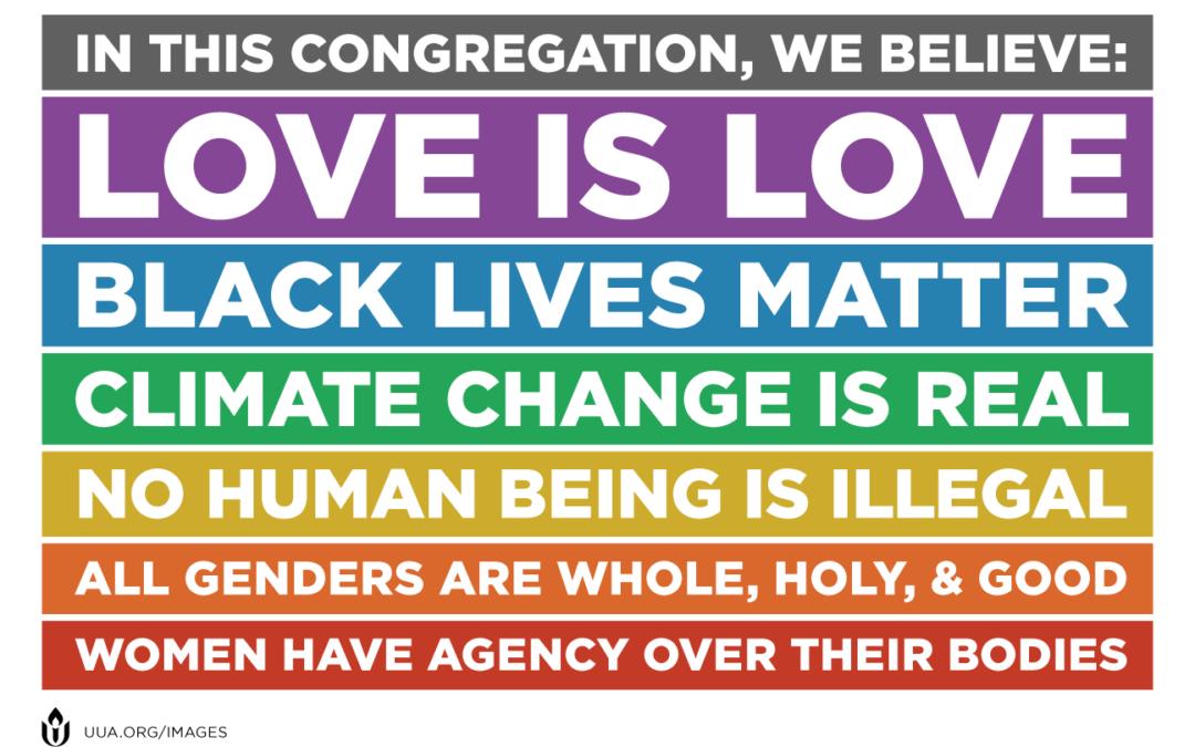 """Spread Love, Not Vitriol"" – A Message from Rev. Rebecca"