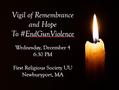 Save the Date!FRS Vigil of Remembrance for Gun Violence Victims