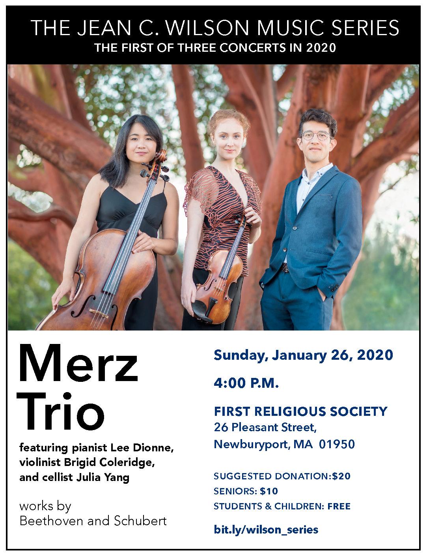 Jean C. Wilson Music Series begins with Merz Trio