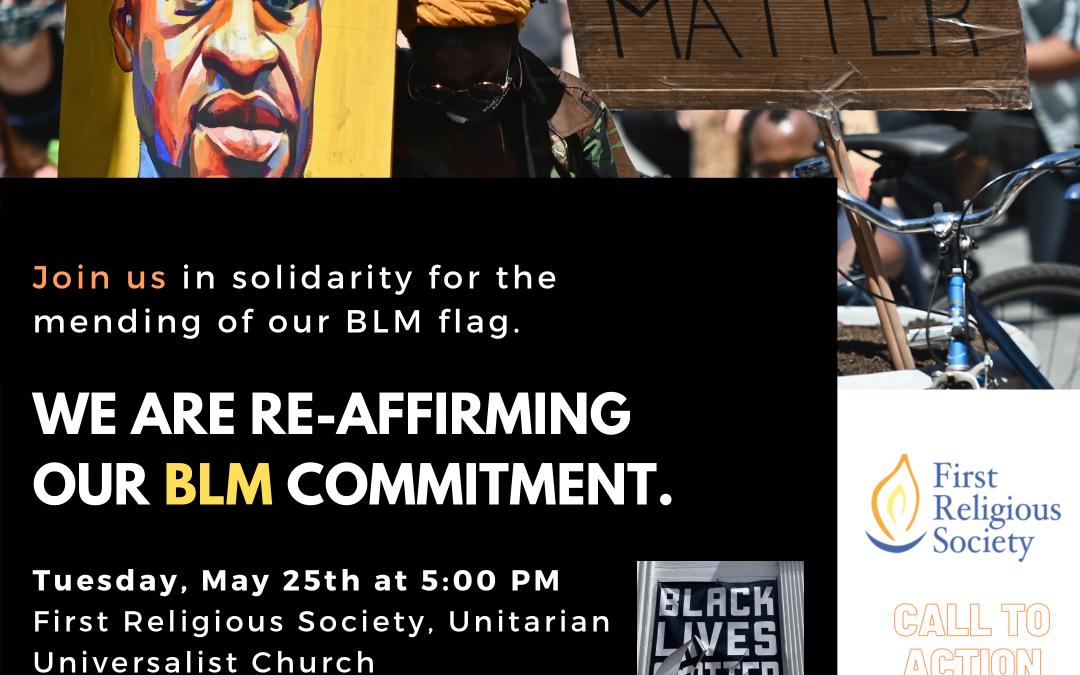 FRS Hosts Rededication of Black Lives Matter Banner