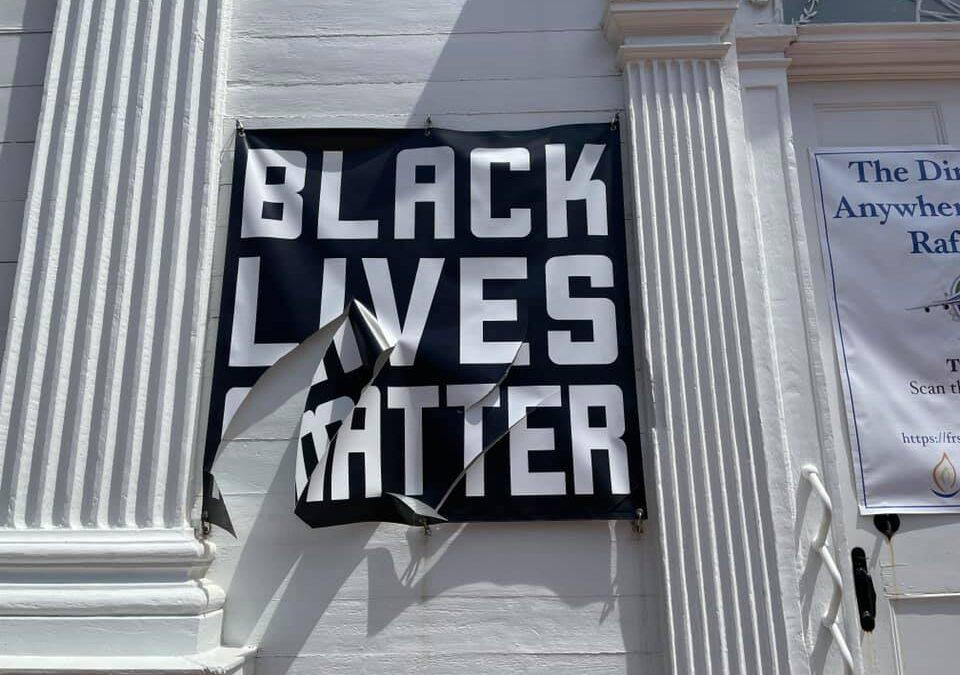 BLM Banner at FRS Vandalized