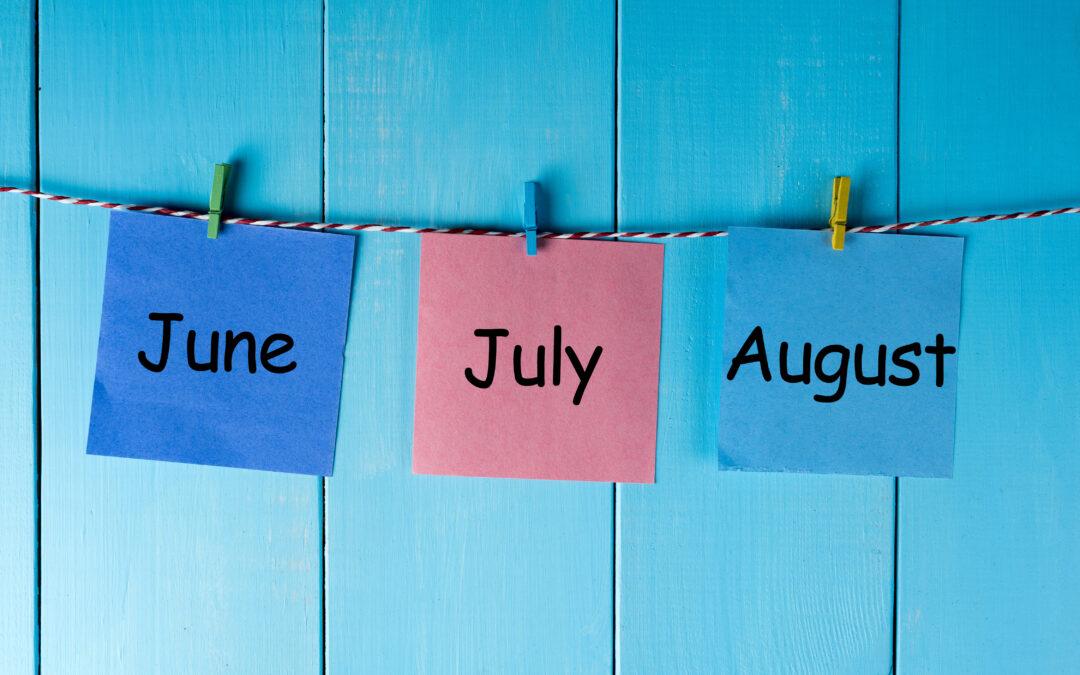 FRS Summer Meeting Calendar