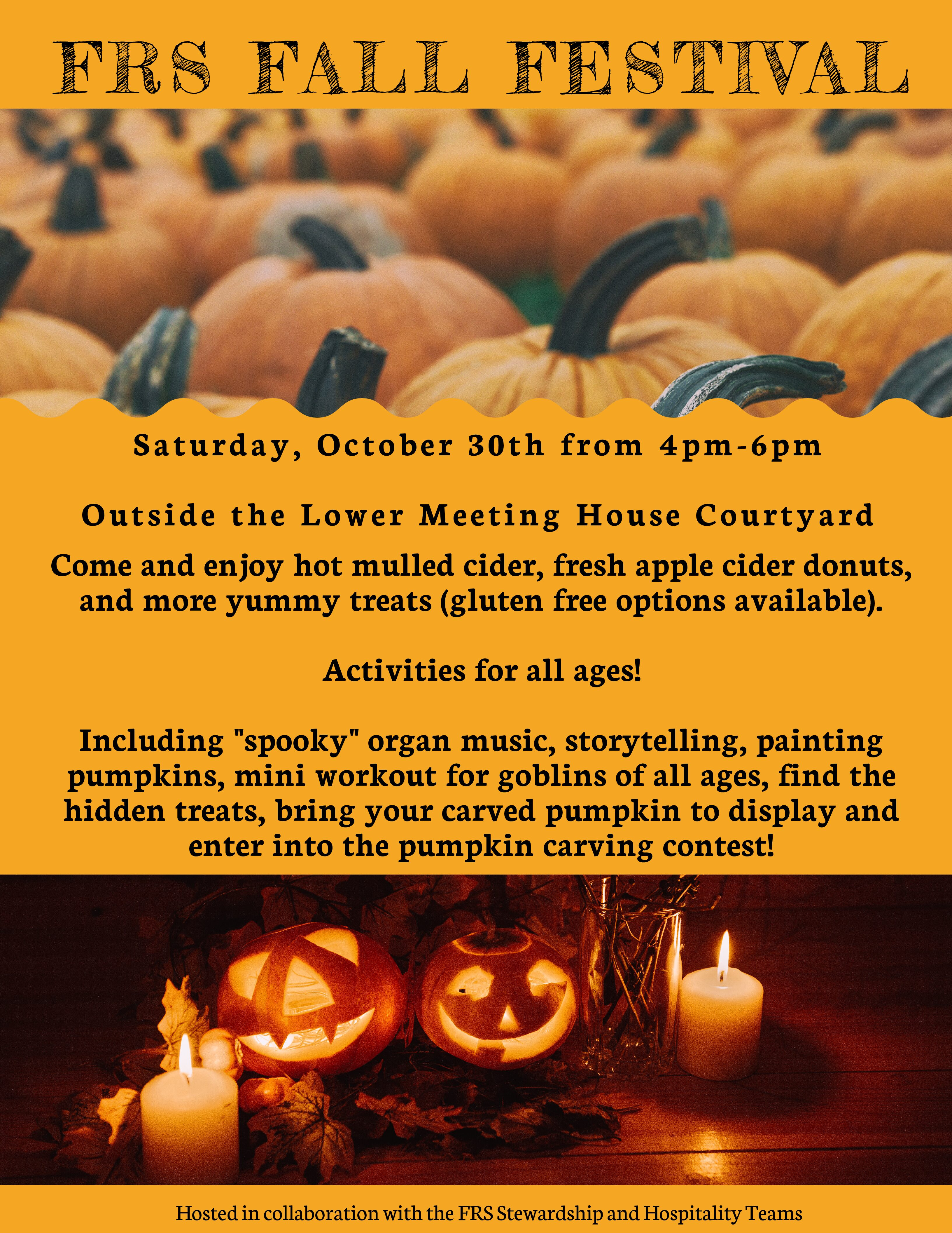 FRS Fall Festival, Saturday, October 30 from 4-6pm